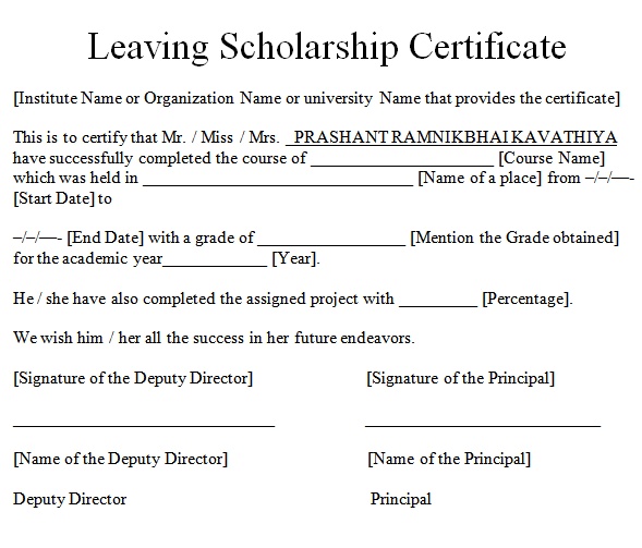 Leaving-Scholarship-Certificate